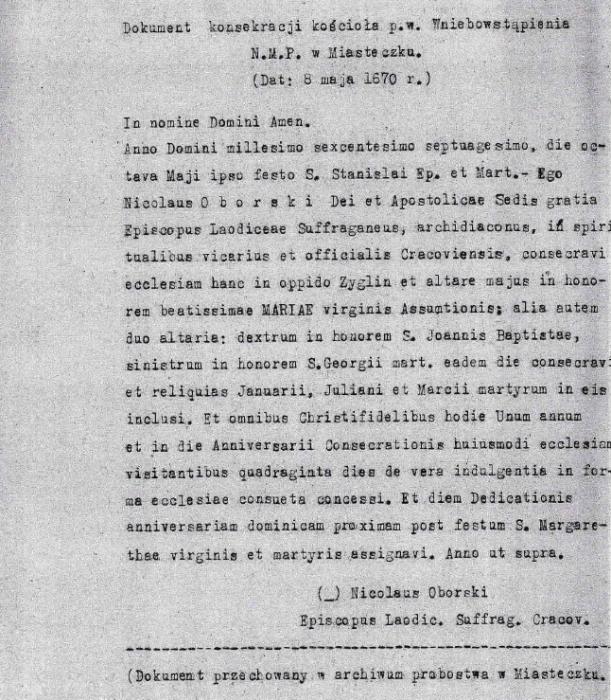 łaciński dokument