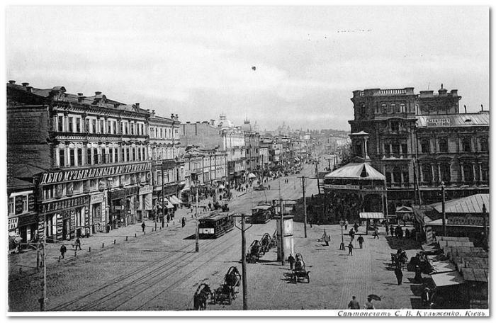 Miasto Kijów w okolicach 1900 roku